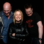 Graham Duff with HEBBURN producer Gill Isles & co-writer Jason Cook by Andy Hollingworth