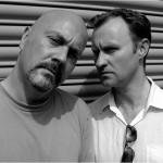 Graham Duff and Mark Gatiss - by Dave Lambert