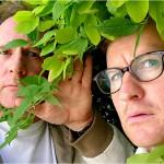 Peter Davison as Dr Dipodocus and Mark Gatiss as Prof. Nebulous - NEBULOUS series 2